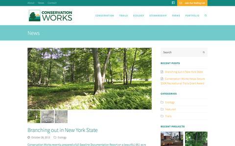 Screenshot of Press Page conservationworksllc.com - Conservation Works - captured Dec. 11, 2015