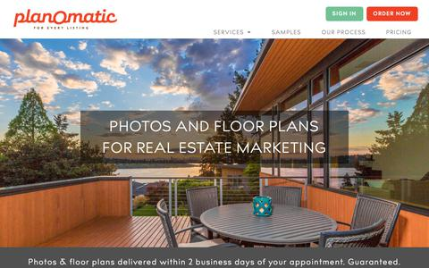 Screenshot of Home Page planomatic.com - PlanOmatic: Real Estate Photography & Floor Plans - captured Nov. 16, 2018
