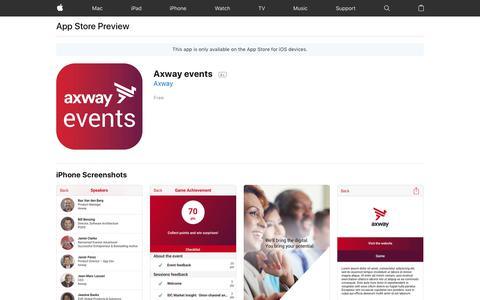 Axway events on the AppStore