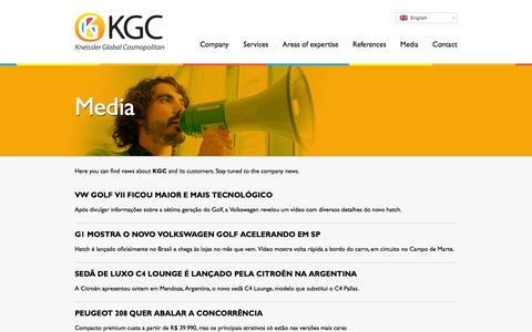 Screenshot of Press Page kgcosmopolitan.com - Media | KGC - Kneissler Global Cosmopolitan - captured Feb. 12, 2016