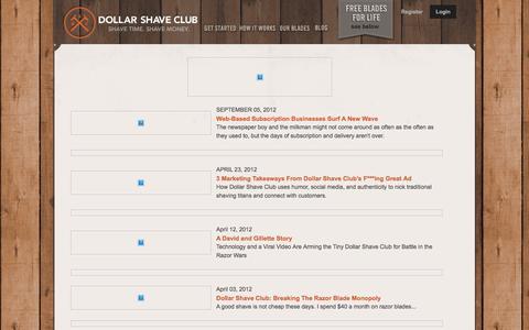 Screenshot of Press Page dollarshaveclub.com - Dollar Shave Club Press - captured April 5, 2016