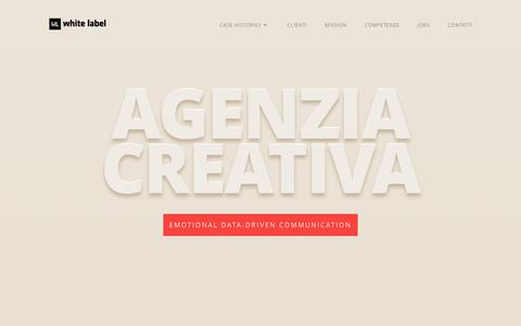 Screenshot of Home Page whitelabel.it - White Label | Agenzia Creativa - captured June 13, 2017