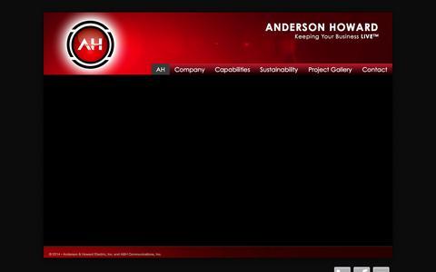 Screenshot of Home Page aandh.com - Anderson Howard - captured Feb. 6, 2016