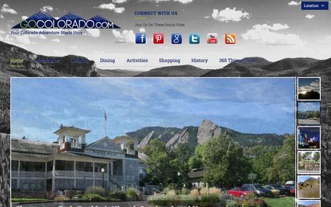 Screenshot of Home Page gocolorado.com - GoColorado.com: Your Colorado Adventure Starts Here - captured Oct. 3, 2014