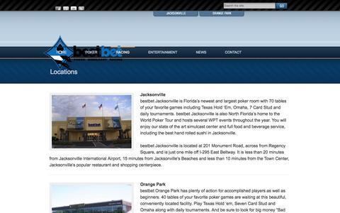 Screenshot of Locations Page bestbetjax.com - Locations | bestbet - captured Sept. 19, 2014