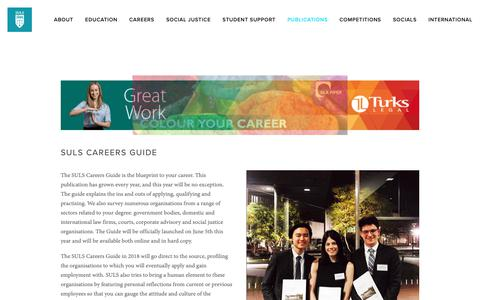 Screenshot of Jobs Page suls.org.au - Careers Guide — Sydney University Law Society - captured Oct. 19, 2018
