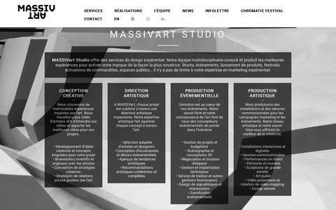 Screenshot of Services Page massivart.ca - MassivArt Studio | MASSIVart - captured July 25, 2018