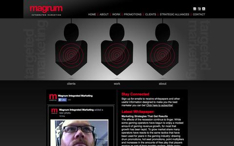 Screenshot of Home Page magnummark.com - Magnum Integrated Marketing | Casino Marketing Company, Companies | Casino Marketing Agency, Agencies - captured Oct. 4, 2014