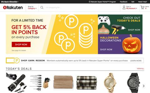 Rakuten.com - Computers, Electronics, Apparel, Home, Sporting Goods, Toys and Accessories | Rakuten.com