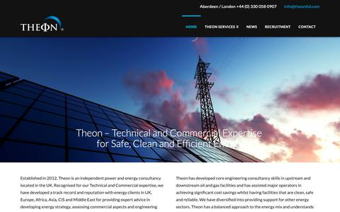 Screenshot of Home Page theonltd.com - Oil and Gas Consultancy | Energy Power Consultants, UK - captured Oct. 18, 2018