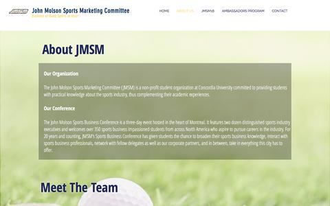 Screenshot of About Page jmsm.ca - jmsm | ABOUT US - captured Nov. 27, 2016