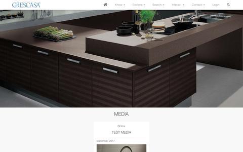 Screenshot of Press Page grescasa.com - Grescasa - captured Sept. 30, 2018