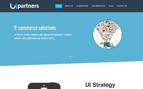 Screenshot of Home Page ui-partners.com - UI partners - captured Sept. 30, 2014