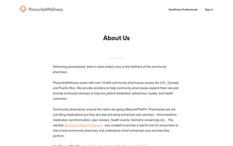 Screenshot of About Page prescribewellness.com - About Us | PrescribeWellness - captured May 6, 2018