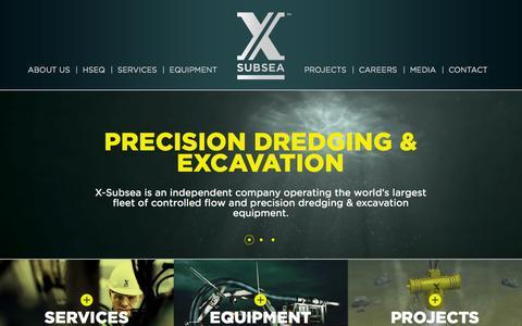 Screenshot of Home Page rsdne.com - X-Subsea - Subsea Dredging & Excavation - captured Oct. 4, 2014