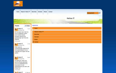 Screenshot of Site Map Page Menu Page heliosit.nl - Map - captured Oct. 22, 2014
