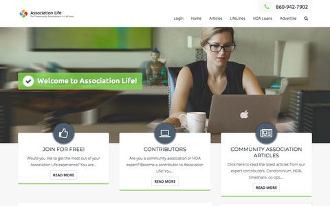 Screenshot of Home Page association-life.com - Welcome to Association Life! - Association Life - captured July 30, 2018