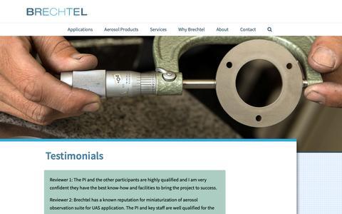 Screenshot of Testimonials Page brechtel.com - Testimonials | Brechtel - captured Oct. 6, 2018
