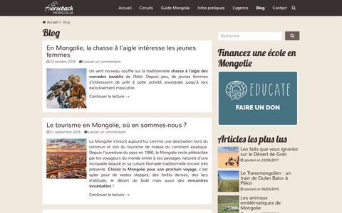 Screenshot of Blog voyage-mongolie.com - Blog Archives - Voyage Mongolie - captured Oct. 29, 2018