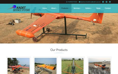 Screenshot of Products Page kadet-uav.com - Aerial Target Supplier  Aerial Target Manufacturer  Aerial Target Distributor  Aerial Target Company  Aerial Target Organisation  Global Aerial Target Supplying Company  » Our Products - captured Oct. 16, 2017