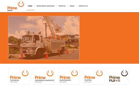 Screenshot of Home Page primefam.com.au - Home - Prime Group - captured Oct. 2, 2014