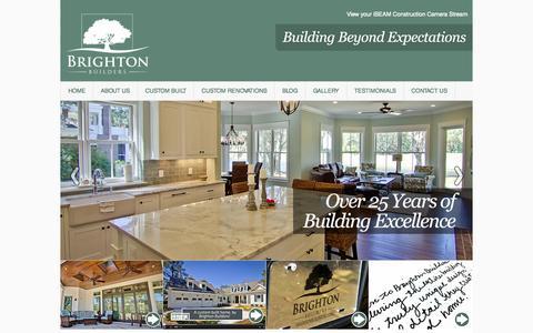 Screenshot of Home Page brightonbuilderssc.com - Custom Home Builders, Luxury Custom Home Builders, Bluffton SC - captured Oct. 5, 2014