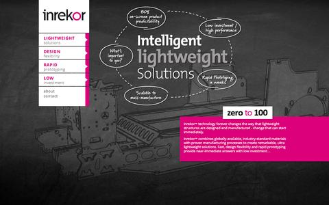 Screenshot of Home Page inrekor.com - inrekor™ | ultra lightweight sandwich panel technology - captured Oct. 6, 2014