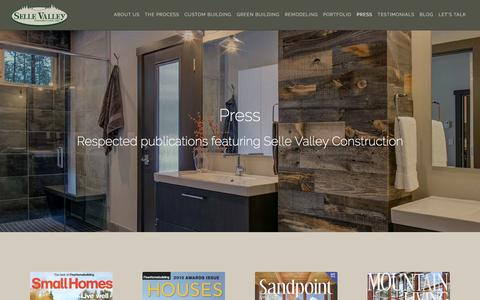 Screenshot of Press Page sellevalley.com - Press   Selle Valley Construction - captured Dec. 7, 2016