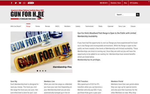 Screenshot of Pricing Page gunforhire.com - Range Membership   Gun For Hire - captured Sept. 30, 2018