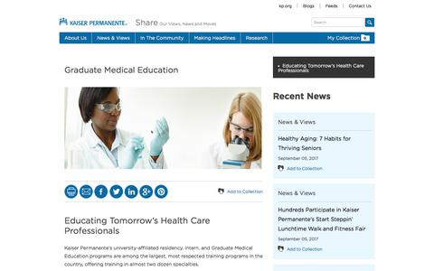 Graduate Medical Education - Kaiser Permanente Share