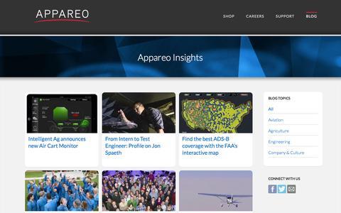 Screenshot of Blog appareo.com - Appareo Insights Blog - captured Feb. 6, 2016