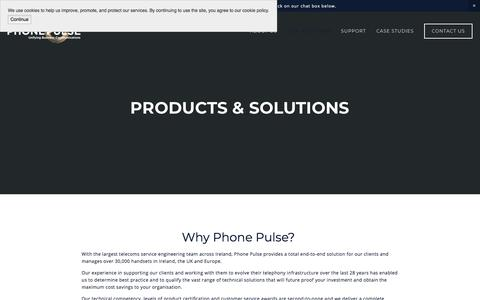 Screenshot of Services Page phonepulse.ie - Phone Pulse | Products & Solutions | SME business phone technology solutions | Shoretel and NEC - captured July 17, 2018