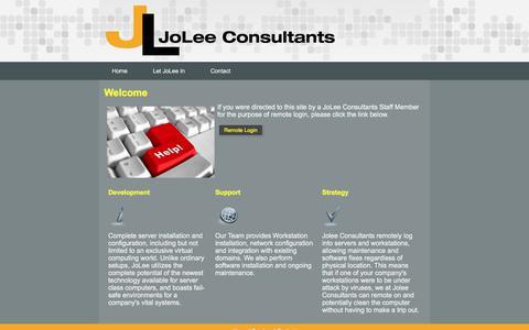 Screenshot of Home Page joleeconsultants.com - JoLee Consultants - captured June 8, 2017