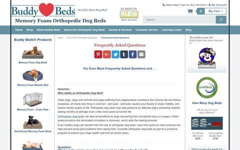 Screenshot of FAQ Page buddybeds.com - Questions about Buddy Beds Memory Foam Dog Beds?  Here Are Answers - captured April 10, 2017