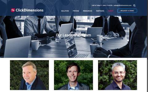 Leadership Team - ClickDimensions