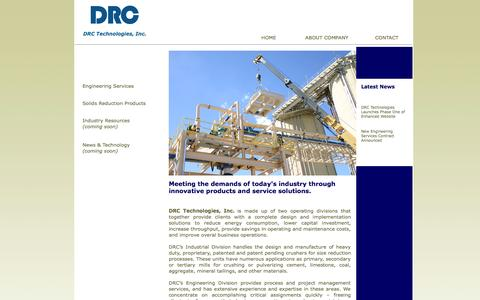 Screenshot of Home Page drctechinc.com - Welcome to DRC Technologies Inc. - captured Oct. 5, 2014