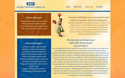 Screenshot of About Page honolulupublishing.com - About Us - Honolulu Publishing - captured Sept. 26, 2016