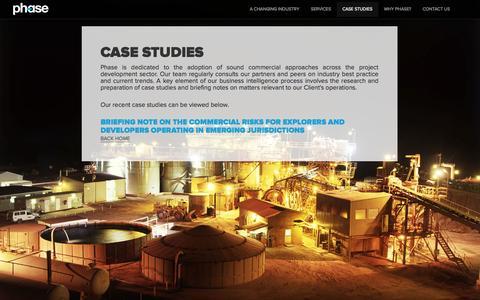 Screenshot of Case Studies Page phasepl.com - Phase - captured Oct. 2, 2014