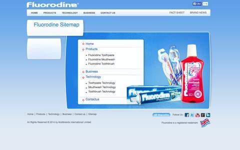 Screenshot of Site Map Page fluorodine.eu.com - Fluorodine - Oral Hygiene Products for Complete Oral and Dental Care - captured Nov. 3, 2014