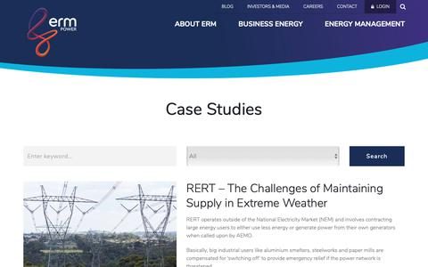 Screenshot of Case Studies Page ermpower.com.au - Case Studies Archives - ERM Power - captured Nov. 4, 2018