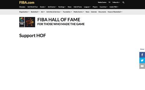 Screenshot of Support Page fiba.com - Support HOF - FIBA.com - captured Aug. 3, 2016