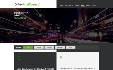 Screenshot of FAQ Page driver-intelligence.com - FAQs   Driver Intelligence - captured Oct. 5, 2014
