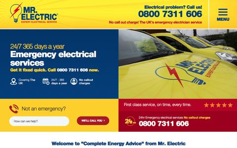 Screenshot of Blog mr-electric.co.uk - Electricians in  - Mr. Electric - Your local electrical contractor. - captured Nov. 30, 2016