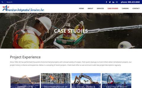 Screenshot of Case Studies Page americanintegrated.com - Case Studies - American Integrated Services, Inc. - captured Feb. 6, 2016