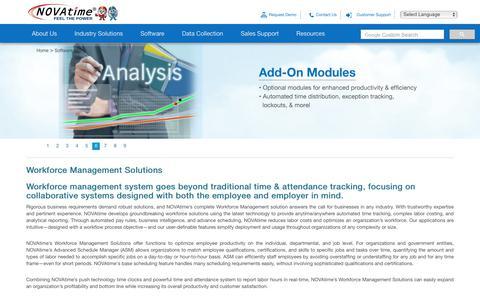 Screenshot of Products Page novatime.com - Workforce Management Solutions | Automated WFM System - captured June 3, 2018