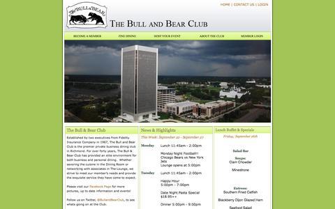 Screenshot of Hours Page bullandbearclub.com - Home - Bull and Bear Club - captured Sept. 30, 2014
