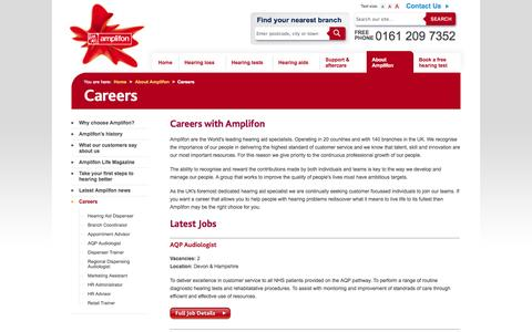 Careers with Amplifon the world's leading hearing aid specialist.