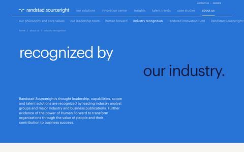Global Industry Recognition | Randstad Sourceright