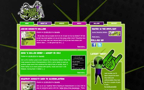 Screenshot of Home Page rockcityrollers.nl - Rockcity Rollers | Roller Derby in Eindhoven, Rockcity - captured Oct. 2, 2014