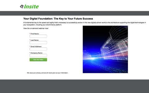 Screenshot of Landing Page insitesoft.com - eCommerce Digital Ecosystem - captured June 16, 2016